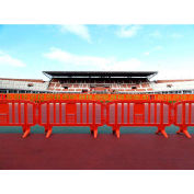 MOVIT® Plastic Barricade, Interlocking, Red