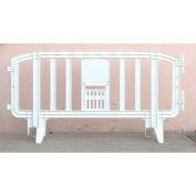 MOVIT® Plastic Barricade, Interlocking, White
