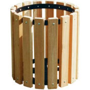 Pressure Treated Wood Garbage Can - 32 Gallon