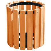 Cedar Recycled Plastic Garbage Can - 32 Gallon
