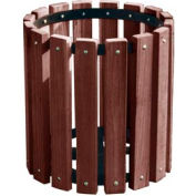 Brown Recycled Plastic Garbage Can - 32 Gallon