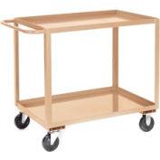 Jamco Putty All Welded 2 Shelf Stock Cart SB124 24x18 1200 Lb. Cap.
