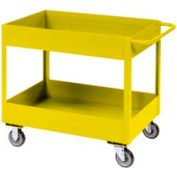 """Jamco Yellow All Welded 3"""" Deep Shelf Cart LT130 1200 Lb. Cap. 30x18"""