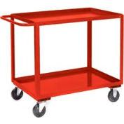 Jamco Red All Welded 2 Shelf Stock Cart SB124 24x18 1200 Lb. Cap.