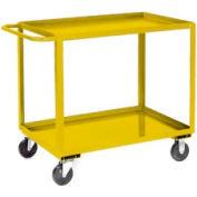 Jamco Yellow All Welded 2 Shelf Stock Cart SB236 36x24 1200 Lb. Cap.
