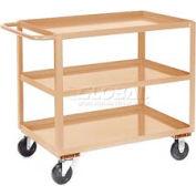 Jamco Putty All Welded 3 Shelf Stock Cart SC130 30x18 1200 Lb. Cap.