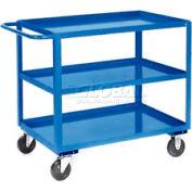 Jamco Blue All Welded 3 Shelf Stock Cart SC236 36x24 1200 Lb. Cap.