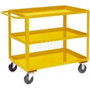 Jamco Yellow All Welded 3 Shelf Stock Cart SC248 48x24 1200 Lb. Cap.
