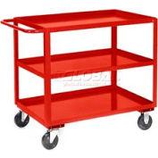 Jamco Red All Welded 3 Shelf Stock Cart SC360 60x30 1200 Lb. Cap.