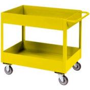 """Jamco Yellow All Welded 3"""" Deep Shelf Cart LT236 2400 Lb. Cap. 36x24"""
