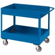 """Jamco Blue All Welded 3"""" Deep Shelf Cart LT236 2400 Lb. Cap. 36x24"""