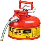 "Justrite® Type II Safety Can - 1 Gallon with 5/8"" Hose, 7210120"