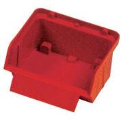 """Quantum Plastic Stack And Lock Bin QCS10 with ID Tab 3-7/8""""W x 4""""D x 2""""H Red - Pkg Qty 48"""