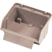 """Quantum Plastic Stack And Lock Bin QCS10 with ID Tab 3-7/8""""W x 4""""D x 2""""H Ivory - Pkg Qty 48"""