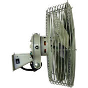 TPI N12,12 Inch Low Velocity Navy Style Workstation Fan 1/12 HP 800 CFM