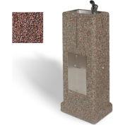 Concrete Upright Drinking Fountain - Red Quartzite