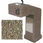 Concrete Outdoor Drinking Fountain ADA Accessible - Gray Limestone