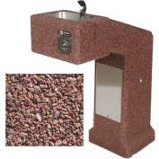 Concrete Outdoor Drinking Fountain ADA Accessible - Red Quartzite