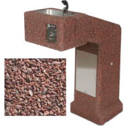 Concrete Freeze Resistant Outdoor Drinking Fountain ADA Accessible - Red