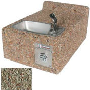 Concrete Wall-Mount Outdoor Drinking Fountain ADA Accessible - Gray Limestone