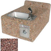 Concrete Freeze Resistant Wall-Mount Outdoor Drinking Fountain ADA - Red