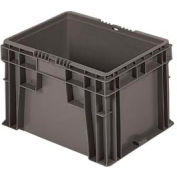 """Buckhorn Straight Wall Container SW1512100206000 Solid 15""""L x 12""""W x 9-1/2""""H, Gray"""