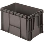 """Buckhorn Straight Wall Container SW2415150206000 Solid 24""""L x 15""""W x 14-1/2""""H, Gray"""
