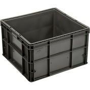 """Buckhorn Straight Wall Container SW242215A206000 Solid 24""""L x 22""""W x 14-1/2""""H, Gray"""