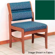 Guest Chair w/o Arms - Medium Oak/Green Vinyl