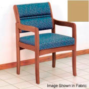 Guest Chair w/ Arms - Medium Oak/Cream Vinyl