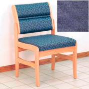 Guest Chair w/o Arms - Light Oak/Blue Fabric
