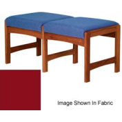 Two Person Bench - Mahogany/Burgundy Vinyl