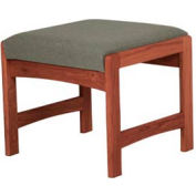 One Person Bench - Mahogany/Gray Fabric