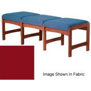 Three Person Bench - Mahogany/Burgundy Vinyl
