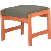 One Person Bench - Medium Oak/Gray Fabric