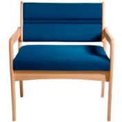 Bariatric Standard Leg Chair - Light Oak/Blue Vinyl