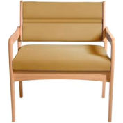 Bariatric Standard Leg Chair - Light Oak/Cream Vinyl