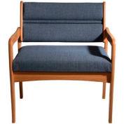 Bariatric Standard Leg Chair - Medium Oak/Blue Fabric