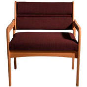 Bariatric Standard Leg Chair - Medium Oak/Burgundy Fabric