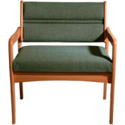 Bariatric Standard Leg Chair - Medium Oak/Green Fabric
