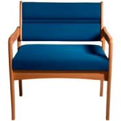 Bariatric Standard Leg Chair - Medium Oak/Blue Vinyl