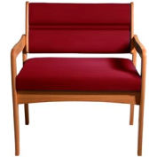 Bariatric Standard Leg Chair - Medium Oak/Burgundy Vinyl