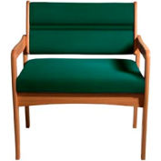 Bariatric Standard Leg Chair - Medium Oak/Green Vinyl
