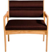 Bariatric Standard Leg Chair - Light Oak/Burgundy Arch Pattern Fabric