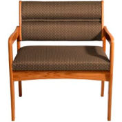 Bariatric Standard Leg Chair - Medium Oak/Khaki Arch Pattern Fabric