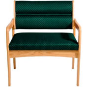 Bariatric Standard Leg Chair - Light Oak/Green Arch Pattern Fabric