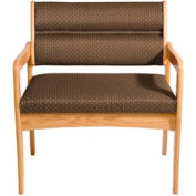 Bariatric Standard Leg Chair - Light Oak/Khaki Arch Pattern Fabric