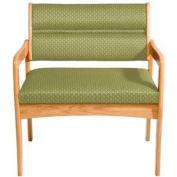 Bariatric Standard Leg Chair - Light Oak/Olive Arch Pattern Fabric