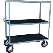 "Vinyl Matted Three Shelf Cart w/ 5"" Poly Casters - 30 x 48"