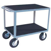 "Vinyl Matted Standard Handle Cart w/ 5"" Poly Casters - 18 x 36"